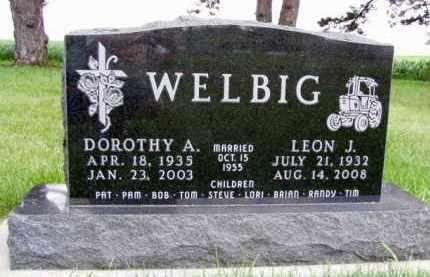 WELBIG, DOROTHY A. - Minnehaha County, South Dakota | DOROTHY A. WELBIG - South Dakota Gravestone Photos
