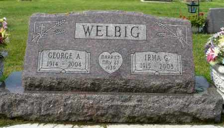 HINK WELBIG, IRMA GRACE - Minnehaha County, South Dakota | IRMA GRACE HINK WELBIG - South Dakota Gravestone Photos