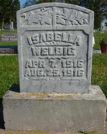 WELBIG, ISABELLA - Minnehaha County, South Dakota | ISABELLA WELBIG - South Dakota Gravestone Photos