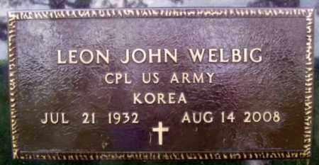WELBIG, LEON JOHN - Minnehaha County, South Dakota | LEON JOHN WELBIG - South Dakota Gravestone Photos