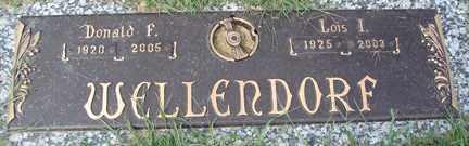 WELLENDORF, DONALD F. - Minnehaha County, South Dakota   DONALD F. WELLENDORF - South Dakota Gravestone Photos