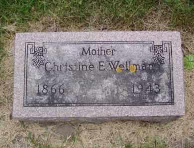 WELLMAN, CHRISTINE E. - Minnehaha County, South Dakota | CHRISTINE E. WELLMAN - South Dakota Gravestone Photos