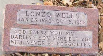 WELLS, LONZO - Minnehaha County, South Dakota | LONZO WELLS - South Dakota Gravestone Photos