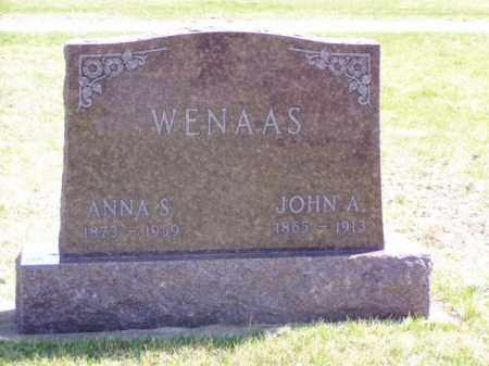 WENAAS, JOHN A. - Minnehaha County, South Dakota | JOHN A. WENAAS - South Dakota Gravestone Photos
