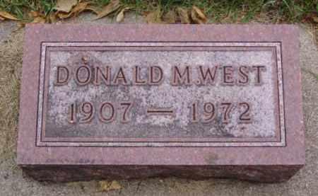 WEST, DONALD M. - Minnehaha County, South Dakota | DONALD M. WEST - South Dakota Gravestone Photos