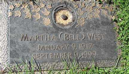BELL WEST, MARTHA - Minnehaha County, South Dakota | MARTHA BELL WEST - South Dakota Gravestone Photos
