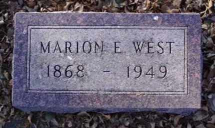 WEST, MARION E. - Minnehaha County, South Dakota | MARION E. WEST - South Dakota Gravestone Photos