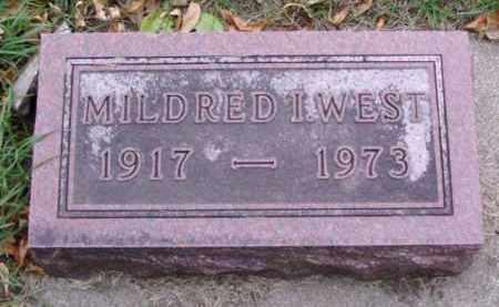 WEST, MILDRED I. - Minnehaha County, South Dakota | MILDRED I. WEST - South Dakota Gravestone Photos