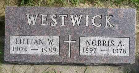 WESTWICK, NORRIS A. - Minnehaha County, South Dakota   NORRIS A. WESTWICK - South Dakota Gravestone Photos