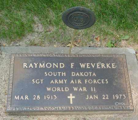 WEVERKE, RAYMOND F. - Minnehaha County, South Dakota | RAYMOND F. WEVERKE - South Dakota Gravestone Photos