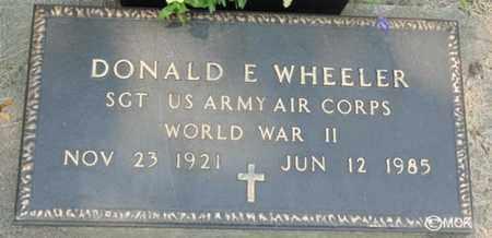 WHEELER, DONALD E. - Minnehaha County, South Dakota | DONALD E. WHEELER - South Dakota Gravestone Photos