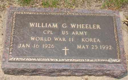 WHEELER, WILLIAM G. - Minnehaha County, South Dakota | WILLIAM G. WHEELER - South Dakota Gravestone Photos