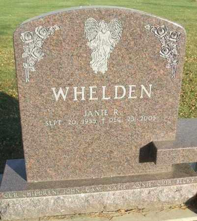 WHELDEN, JANIE R. - Minnehaha County, South Dakota | JANIE R. WHELDEN - South Dakota Gravestone Photos