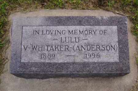 WHITAKER, LULU VIOLA - Minnehaha County, South Dakota | LULU VIOLA WHITAKER - South Dakota Gravestone Photos