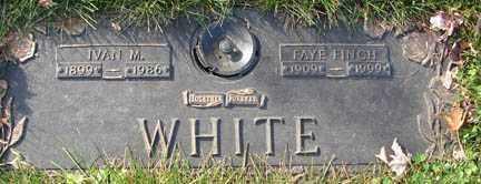 FINCH WHITE, FAYE - Minnehaha County, South Dakota | FAYE FINCH WHITE - South Dakota Gravestone Photos