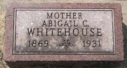 WHITEHOUSE, ABIGAIL C. - Minnehaha County, South Dakota | ABIGAIL C. WHITEHOUSE - South Dakota Gravestone Photos
