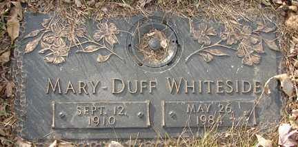 DUFF WHITESIDE, MARY - Minnehaha County, South Dakota | MARY DUFF WHITESIDE - South Dakota Gravestone Photos