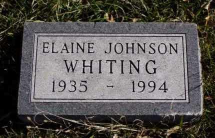 JOHNSON WHITING, ELAINE - Minnehaha County, South Dakota | ELAINE JOHNSON WHITING - South Dakota Gravestone Photos