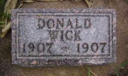 WICK, DONALD K. - Minnehaha County, South Dakota | DONALD K. WICK - South Dakota Gravestone Photos