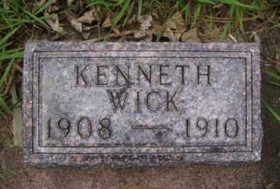 WICK, KENNETH H. - Minnehaha County, South Dakota | KENNETH H. WICK - South Dakota Gravestone Photos