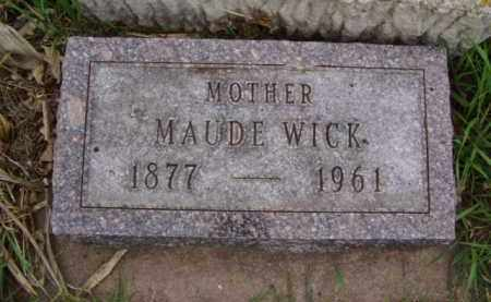 WICK, MAUDE - Minnehaha County, South Dakota | MAUDE WICK - South Dakota Gravestone Photos