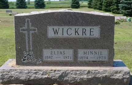 WICKRE, MINNIE - Minnehaha County, South Dakota   MINNIE WICKRE - South Dakota Gravestone Photos