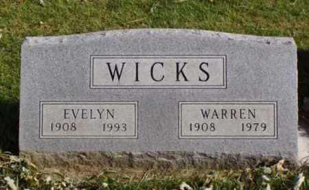 WICKS, EVELYN - Minnehaha County, South Dakota | EVELYN WICKS - South Dakota Gravestone Photos