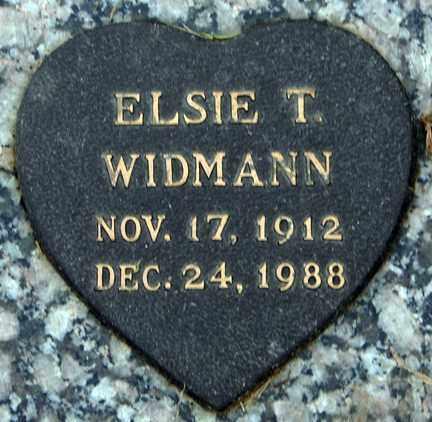 WIDMANN, ELSIE T. - Minnehaha County, South Dakota | ELSIE T. WIDMANN - South Dakota Gravestone Photos