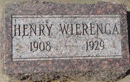 WIERENGA, HENRY - Minnehaha County, South Dakota | HENRY WIERENGA - South Dakota Gravestone Photos