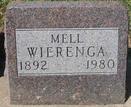 WIERENGA, MELL - Minnehaha County, South Dakota | MELL WIERENGA - South Dakota Gravestone Photos