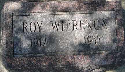 WIERENGA, ROY - Minnehaha County, South Dakota | ROY WIERENGA - South Dakota Gravestone Photos