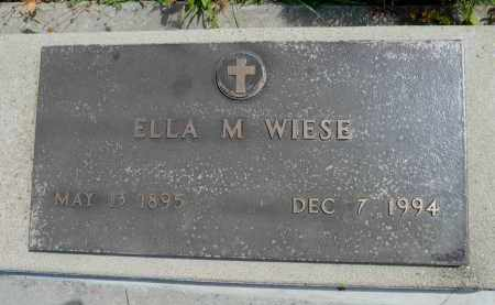WIESE, ELLA M. - Minnehaha County, South Dakota | ELLA M. WIESE - South Dakota Gravestone Photos