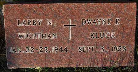 WIGHTMAN, LARRY N. - Minnehaha County, South Dakota | LARRY N. WIGHTMAN - South Dakota Gravestone Photos