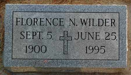 WILDER, FLORENCE N. - Minnehaha County, South Dakota | FLORENCE N. WILDER - South Dakota Gravestone Photos