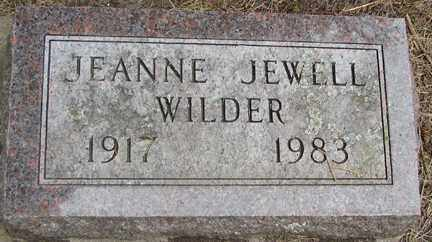 WILDER, JEANNE JEWELL - Minnehaha County, South Dakota | JEANNE JEWELL WILDER - South Dakota Gravestone Photos