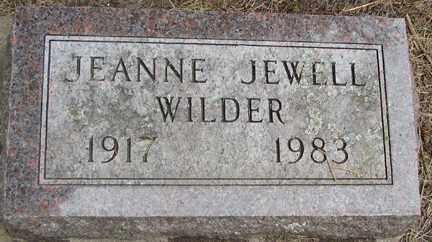 WILDER, JEANNE JEWELL - Minnehaha County, South Dakota | JEANNE JEWELL WILDER - South Dakota Gravestone Photos