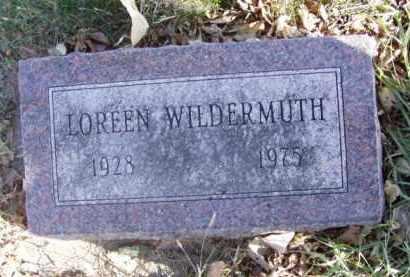 NUSS WILDERMUTH, LOREEN - Minnehaha County, South Dakota | LOREEN NUSS WILDERMUTH - South Dakota Gravestone Photos