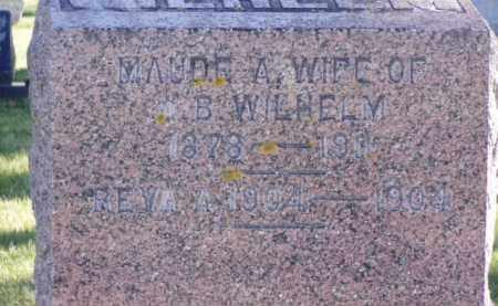 WILHELM, MAUDE A. - Minnehaha County, South Dakota | MAUDE A. WILHELM - South Dakota Gravestone Photos