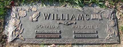 WILLIAMS, MAJORIE J. - Minnehaha County, South Dakota | MAJORIE J. WILLIAMS - South Dakota Gravestone Photos