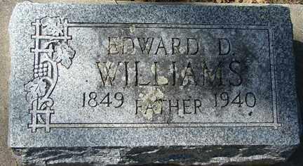 WILLIAMS, EDWARD D. - Minnehaha County, South Dakota   EDWARD D. WILLIAMS - South Dakota Gravestone Photos