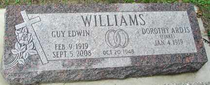FINKE WILLIAMS, DOROTHY ARDIS - Minnehaha County, South Dakota | DOROTHY ARDIS FINKE WILLIAMS - South Dakota Gravestone Photos