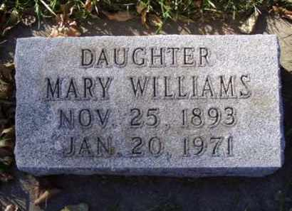 WILLIAMS, MARY - Minnehaha County, South Dakota | MARY WILLIAMS - South Dakota Gravestone Photos