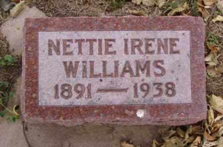 WILLIAMS, NETTIE IRENE - Minnehaha County, South Dakota | NETTIE IRENE WILLIAMS - South Dakota Gravestone Photos
