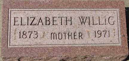 WILLIG, ELIZABETH - Minnehaha County, South Dakota | ELIZABETH WILLIG - South Dakota Gravestone Photos