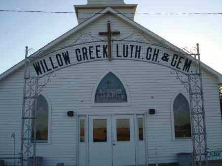 *WILLOW CREEK LUTHERAN CHURCH, WILLOW CREEK - Minnehaha County, South Dakota | WILLOW CREEK *WILLOW CREEK LUTHERAN CHURCH - South Dakota Gravestone Photos