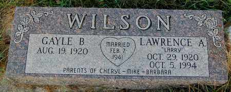 WILSON, LAWRENCE A. - Minnehaha County, South Dakota | LAWRENCE A. WILSON - South Dakota Gravestone Photos
