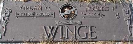 WINGE, OREAN G. - Minnehaha County, South Dakota | OREAN G. WINGE - South Dakota Gravestone Photos
