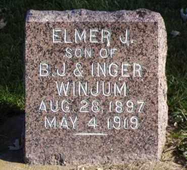 WINJUM, ELMER J. - Minnehaha County, South Dakota | ELMER J. WINJUM - South Dakota Gravestone Photos