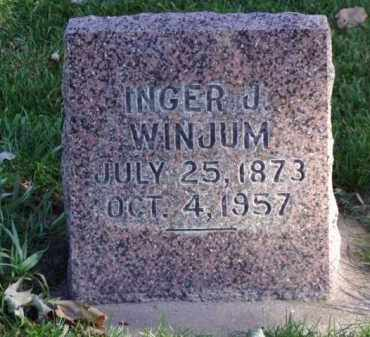 WINJUM, INGER J. - Minnehaha County, South Dakota | INGER J. WINJUM - South Dakota Gravestone Photos