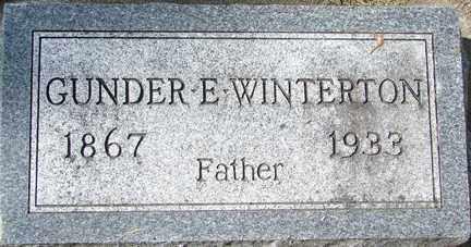WINTERTON, GUNDER E. - Minnehaha County, South Dakota | GUNDER E. WINTERTON - South Dakota Gravestone Photos